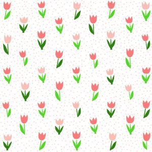 Tulip Pastel Mix Flower Decoupage Napkin