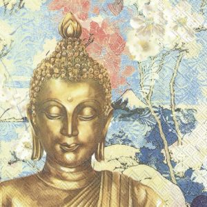 Golden Buddha Decoupage Napkin