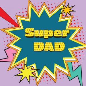 Super Dad Decoupage Napkin