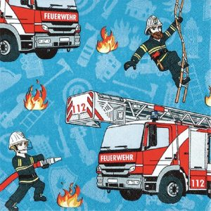 Fire Fighters Decoupage Napkin
