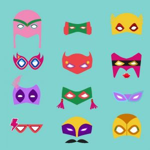 Super Hero Face Mask Decoupage Napkin