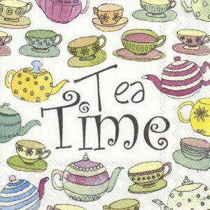 Tea Time Decoupage Napkin