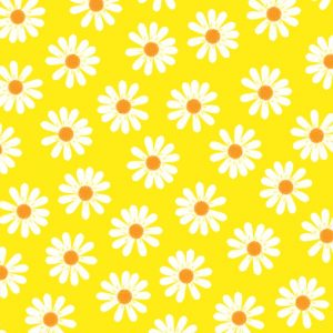 White Daisies In Yellow Background Decoupage Napkin