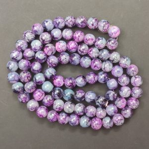 Double Shade Purple Glass Beads