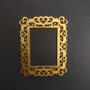 MDF Rectangle Style 1 Gold Frame