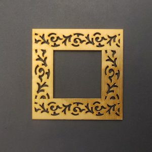 MDF Square Style 1 Gold Frame