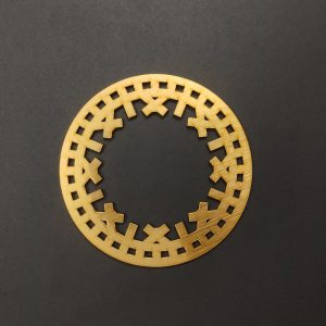 MDF Round Style 3 Gold Frame