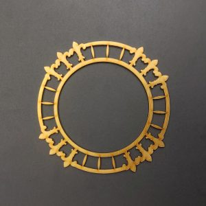 MDF Round  Style 4 Gold Frame