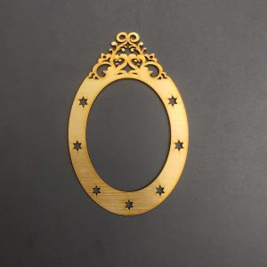 MDF Oval Gold Frame