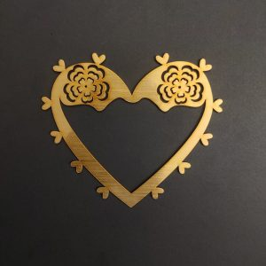 MDF Heart Style 2 Gold Frame