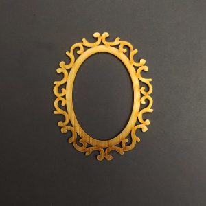 MDF Oval Style 2 Gold Frame