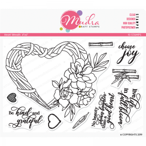 Mudra Clear Stamp - Heart Wreath
