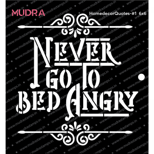 Mudra Stencil - Homedecor Quote Stencil