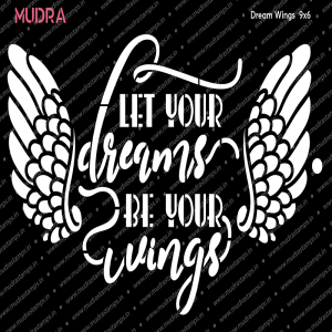 Mudra Stencil - Dreams Wings Stencil