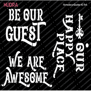 Mudra Stencil - Home Decor Quotes #2