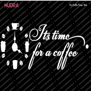 Mudra Stencil - Its Coffee Time