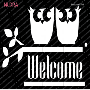 Mudra Stencil - Welcome #2