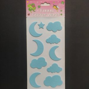 Foam Stickers - Day and Night Baby Blue Theme
