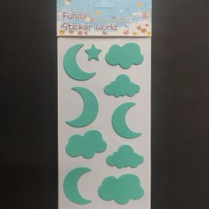 Foam Stickers - Day and Night Turquoise GreenTheme