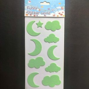 Foam Stickers - Day and Night Apple Green Theme
