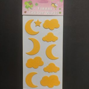 Foam Stickers - Day and Night Yellow Theme