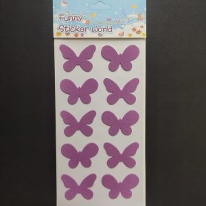 Foam Stickers - Light Lavender Butterfly Style1