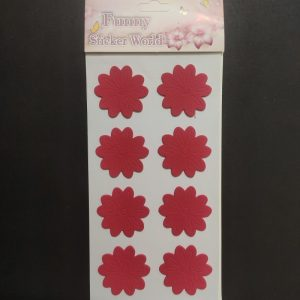Foam Stickers - Red Flower