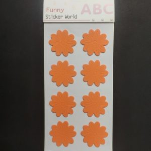 Foam Stickers - Orange Flower