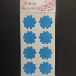 Foam Stickers - Dark Blue Flower