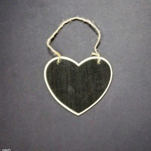 Mini Heart Shape Chalkboard With Jute Rope
