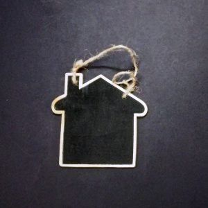 Mini House Shape Chalkboard With Jute Rope
