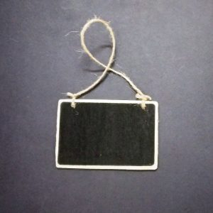 Mini Rectangle Shape Chalkboard With Jute Rope