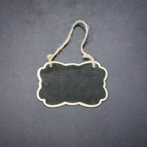 Mini Bracket Style1 Shape Chalkboard With Jute Rope
