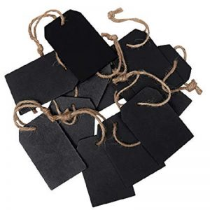 Wooden Blackboard Message Tags Style2 With Jute Rope