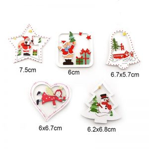Christmas Wooden Embellishments Set
