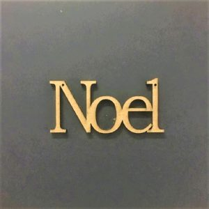 MDF NOEL Word Cut Out
