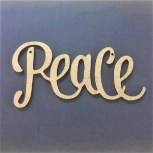 MDF PEACE Word Cut Out