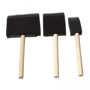 Art Tools - Black Sponge Brush Set Of 3