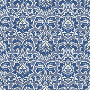 Blue Damask Print Wallpaper Decoupage Napkin