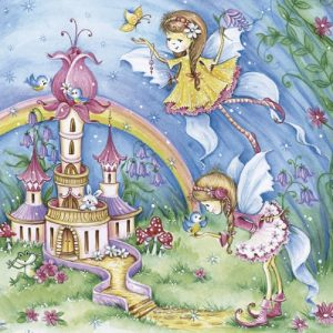 Fairies With Castle Decoupage Napkin