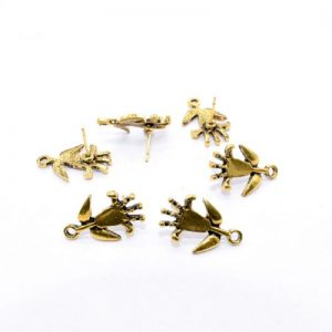 Antique Gold Flower Pattern Earrings