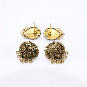Antique Gold  Tear Drop Pattern Earrings