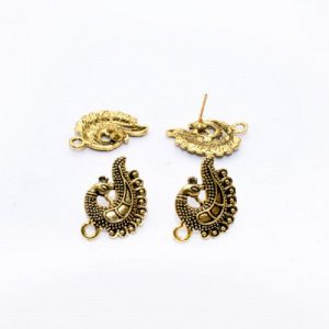 Antique Gold Peacock  Pattern Earrings