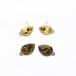 Antique Gold Tear Drop With Peacock Pattern Earrings
