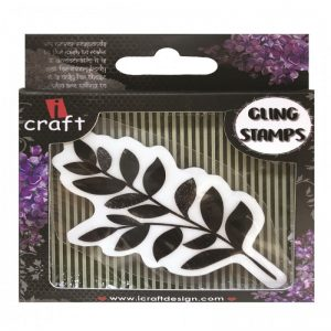 ICraft Rubber Stamp - Twin Leafs