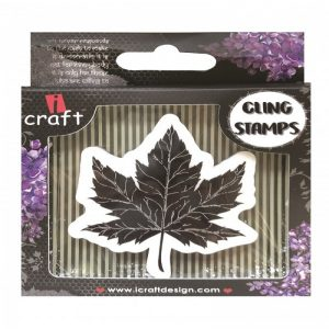 ICraft Rubber Stamp - Maple Leaf Style 1