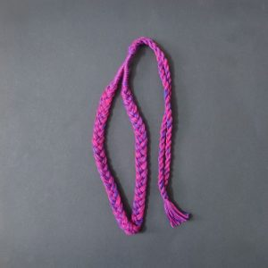 Pink With Blue Braided Cotton Thread Neck Rope