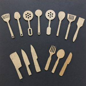 MDF Mixed Cutlery and Spatula Set
