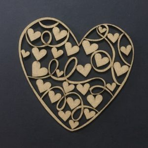 MDF Heart Cut Out Style 1