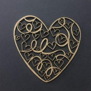 MDF Heart Cut Out Style 2